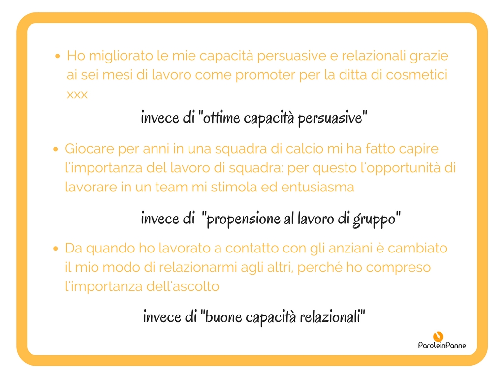 Curriculum Petenze Unicative Cosa Ci Scrivo ParoleinPanne